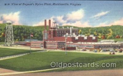 fac001037 - Dupont's Nylon plant, Martinsville, Virginia, Va, USA Virginia Factory Postcard Post Card