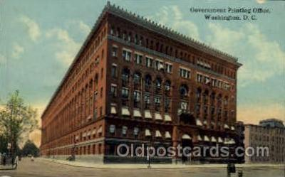 fac001092 - Government Printing Office Washington, DC, USA Postcard Post Cards Old Vintage Antique