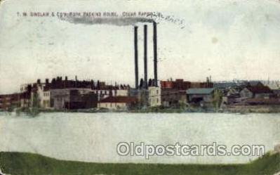 fac001128 - TM Sinclair & Co's Pork Packing House Cedar Rapids, IA, USA Postcard Post Cards Old Vintage Antique