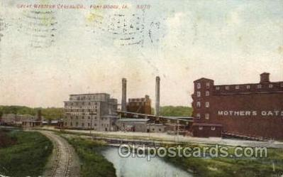 fac001136 - Great Western Cereal Co Fort Dodge, IA, USA Postcard Post Cards Old Vintage Antique