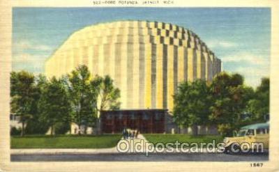fac002022 - Ford Rotunda Detroit, MI, USA Postcard Post Cards Old Vintage Antique