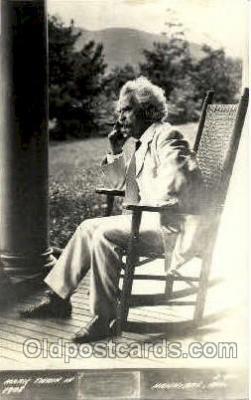 fam100096 - Mark Twain Famous People Postcard Post Card