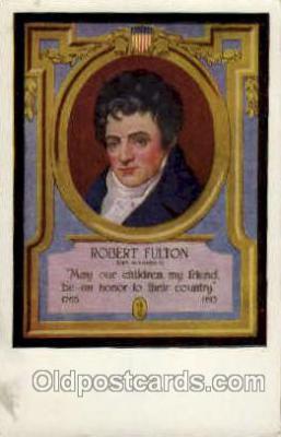 fam100131 - Robert Fluton Famous People Postcard Post Card