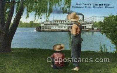 fam100319 - Mark Twain Famous People Old Vintage Antique Postcard Post Card
