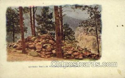 fam100337 - Helen Hunt's Grave, Cheyenne Mountain Famous People Old Vintage Antique Postcard Post Card