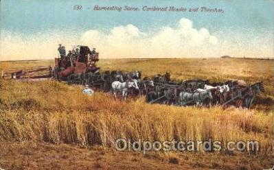 far001173 - Harvesting Farming, Farm, Farmer, Postcard Postcards