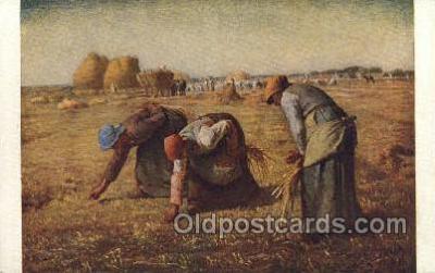 far001308 - Artist Jean Francois Millet Farming Old Vintage Antique Postcard Post Card