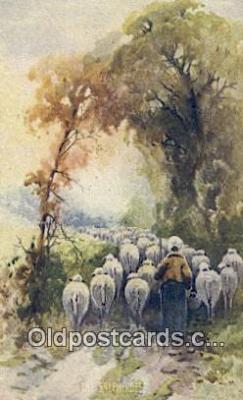 far001371 - The Shepherds Farming Postcard Post Card
