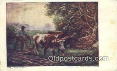 far001409 - Fall Ploughing Farming Postcard Post Card