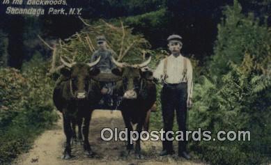 far001421 - Backwoods Farming Postcard Post Card