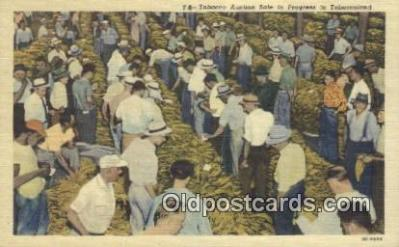 far001549 - Tobacco Auction Farming Postcard Post Card