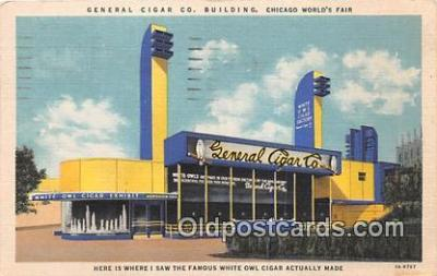 far001570 - General Cigar Co Building Chicago's World Fair, Ill. USA Postcards Post Cards Old Vintage Antique