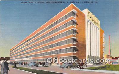 far001577 - Model Tobacco Factory Richmond, VA, USA Postcards Post Cards Old Vintage Antique