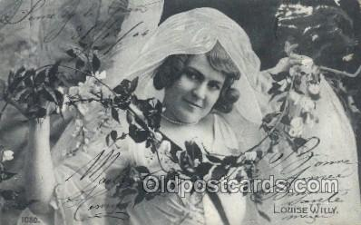 ffs001004 - Louise Willy Foreign Film Stars Old Vintage Antique Postcard Post Card