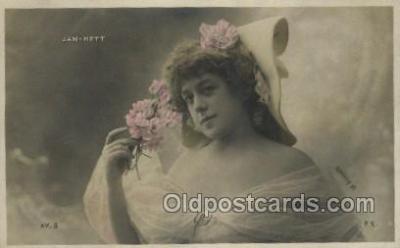 ffs001015 - Jan Hett Foreign Film Stars Old Vintage Antique Postcard Post Card