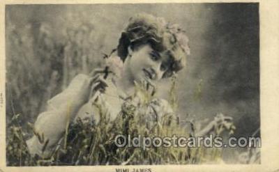 ffs001018 - Mimi James Foreign Film Stars Old Vintage Antique Postcard Post Card