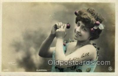 ffs001025 - Clairval Foreign Film Stars Old Vintage Antique Postcard Post Card