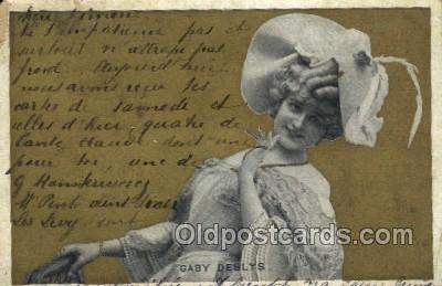 ffs001028 - Gaby Deslys Foreign Film Stars Old Vintage Antique Postcard Post Card