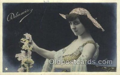 ffs001029 - Delmares Foreign Film Stars Old Vintage Antique Postcard Post Card