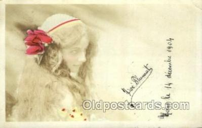 ffs001030 - Loe Flumat Foreign Film Stars Old Vintage Antique Postcard Post Card