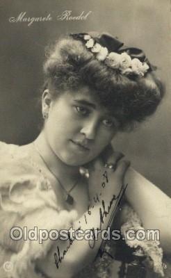 ffs001040 - Margarete Rodel Foreign Film Stars Old Vintage Antique Postcard Post Card