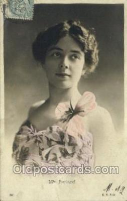 ffs001045 - Mlle Berland Foreign Film Stars Old Vintage Antique Postcard Post Card