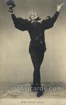 ffs001051 - Henry Krauss Foreign Film Stars Old Vintage Antique Postcard Post Card