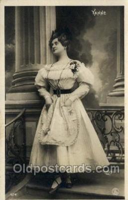 ffs001056 - Yahne Reutlinger, Foreign Film Stars Old Vintage Antique Postcard Post Card