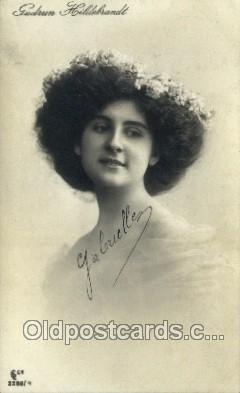 ffs001060 - Gudrun Hildebrandt Foreign Film Stars Old Vintage Antique Postcard Post Card