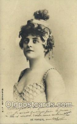 ffs001071 - De Margyl Foreign Film Stars Old Vintage Antique Postcard Post Card