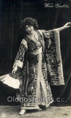 ffs001082 - Wini Grabits Foreign Film Stars Old Vintage Antique Postcard Post Card