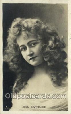 ffs001084 - Miss Barrisson Foreign Film Stars Old Vintage Antique Postcard Post Card