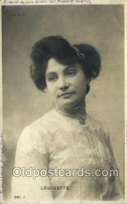 ffs001090 - Louisette Foreign Film Stars Old Vintage Antique Postcard Post Card