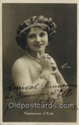 ffs001093 - Fernande d Elb Foreign Film Stars Old Vintage Antique Postcard Post Card