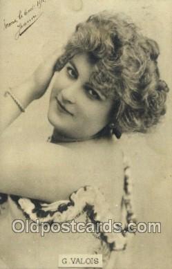 ffs001098 - G Valois Foreign Film Stars Old Vintage Antique Postcard Post Card