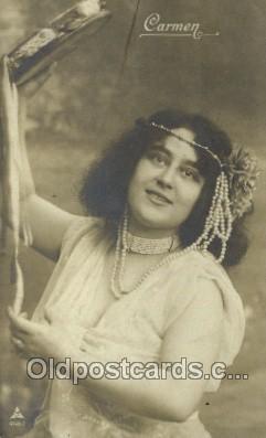 ffs001101 - Carmen Foreign Film Stars Old Vintage Antique Postcard Post Card