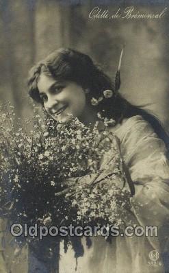 ffs001106 - Odette de Bremonoval Foreign Film Stars Old Vintage Antique Postcard Post Card