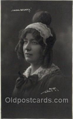ffs001117 - Emma Decapy Foreign Film Stars Old Vintage Antique Postcard Post Card