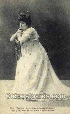 ffs001126 - Mme Blanche de Paunac Foreign Film Stars Old Vintage Antique Postcard Post Card