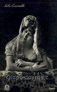 ffs001144 - Julia Esmeralda Foreign Film Stars Old Vintage Antique Postcard Post Card