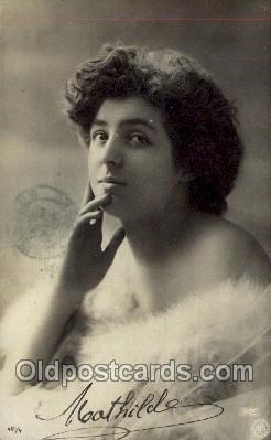 ffs001146 - Nathilde Foreign Film Stars Old Vintage Antique Postcard Post Card