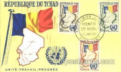 fgs001080 - Republique Dutchad Flag, Flags, Postcard Post Card