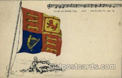 fgs100001 - Britian Flag, Flags, Postcard Post Card