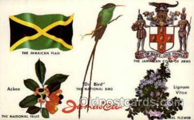 fgs100008 - Jamaica Flag, Flags, Postcard Post Card