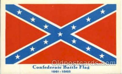 fgs100023 - Confederate States of America Flag, Flags, Postcard Post Card