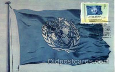 fgs100025 - United Nations Flag, Flags, Postcard Post Card