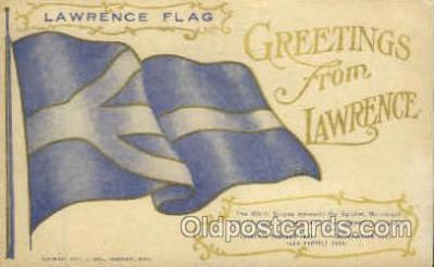 fgs100030 - Lawrence, Massachusets, USA Flag, Flags, Postcard Post Card