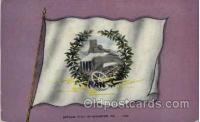 fgs100031 - Scranton, PA, USA Flag, Flags, Postcard Post Card