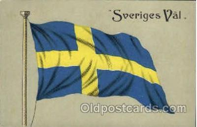 fgs100040 - Sweden Flag, Flags, Postcard Post Card