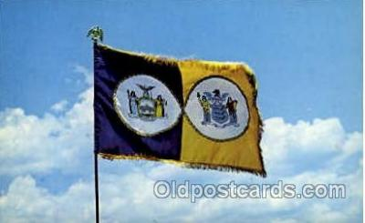 fgs100042 - Port of New York, USA Flag, Flags, Postcard Post Card